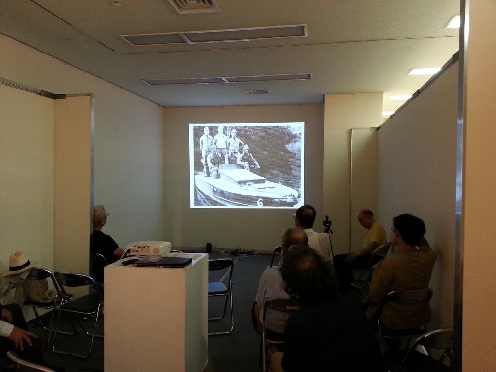 会場の一画でビデオ上映がなされていた